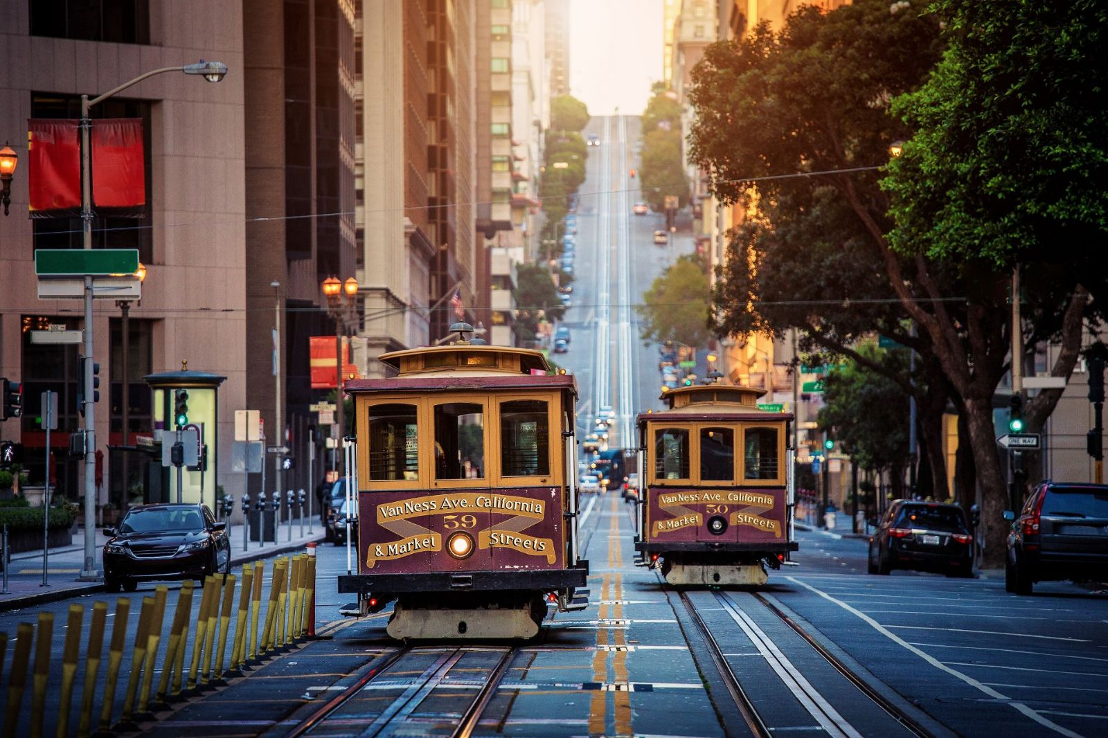 The world famous Cable Cars of San Francisco